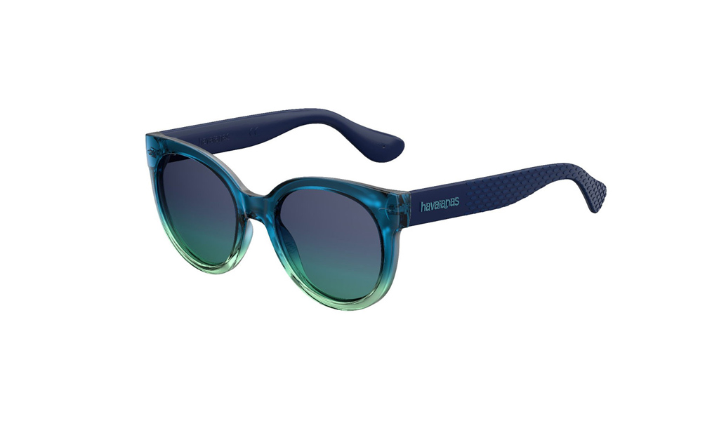7a4e869b9 Click Image for Gallery. Women s Havaianas Sunglasses NORONHA M 3UK JF in  cat-eye shape. The frame material is acetate and in dark green blue ...
