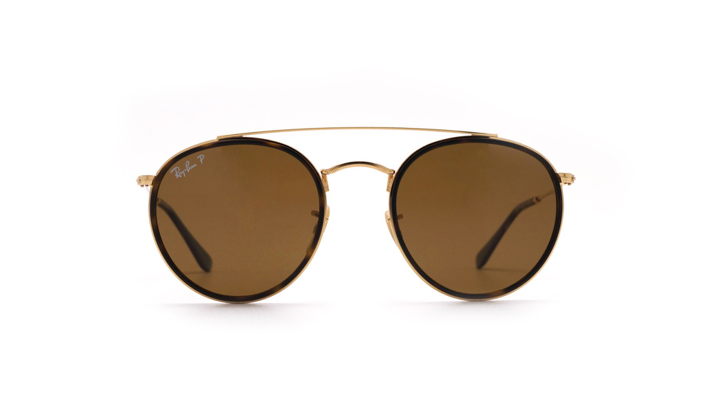 Unisex γυαλιά ηλίου Ray-Ban Round Double Bridge RB 3647N 001 57 ... cf37d16fa34
